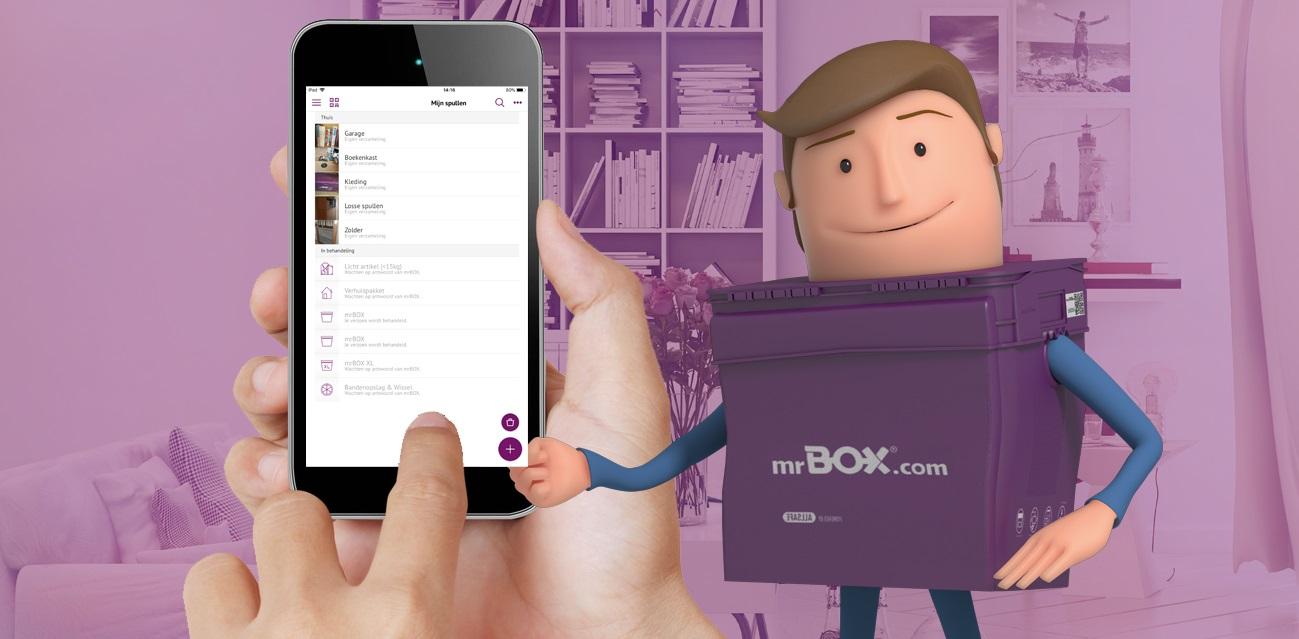 mrBOX app zet fysieke spullen in de cloud