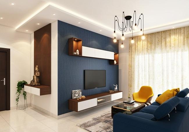 donkere kleur in de woonkamer
