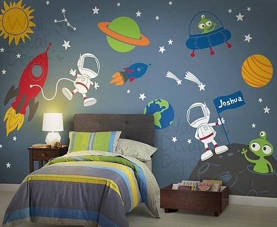 ruimtereis in de kinderkamer