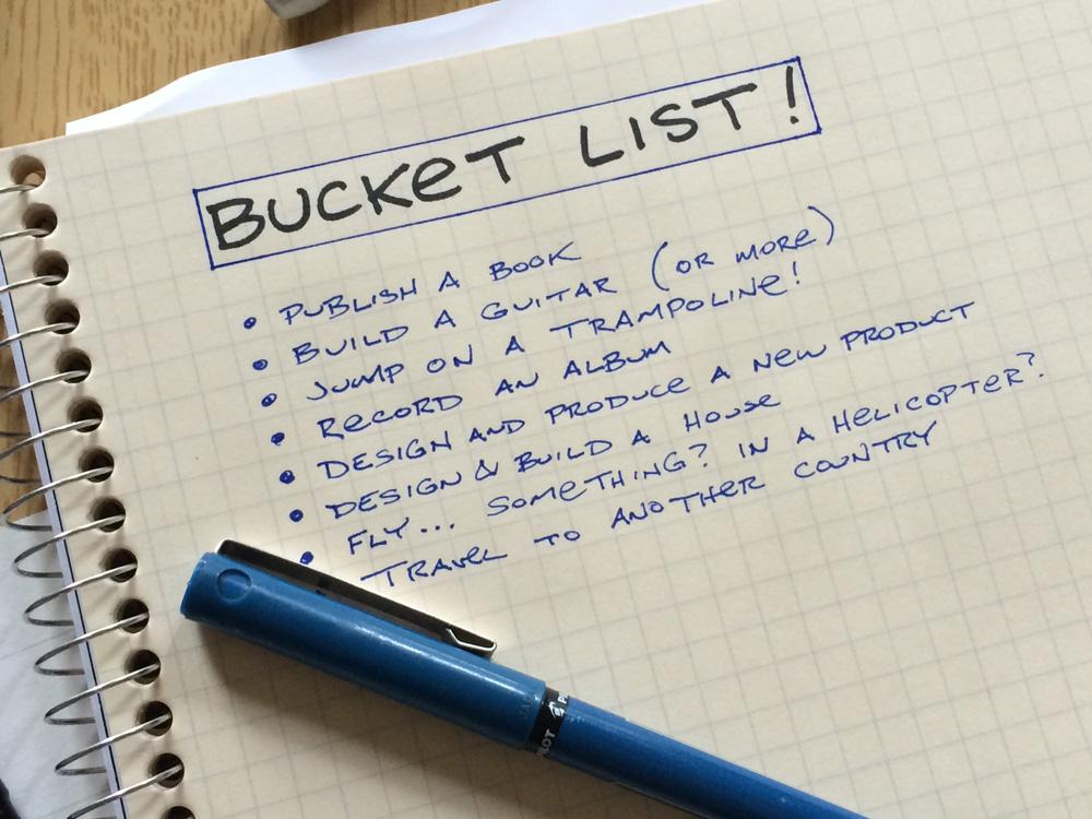 Creëer ook ruimte voor plezier, maak een bucket list!
